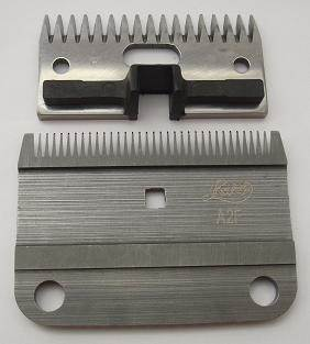 Horse/cattle clipper blade sharpening